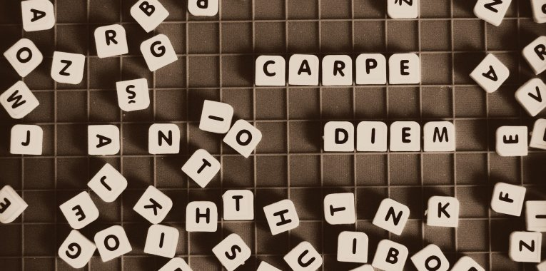 carpe diem en lettres